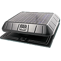 solar attic fan, sunrise solar att fan, solar ventilation, attic fan ventilation